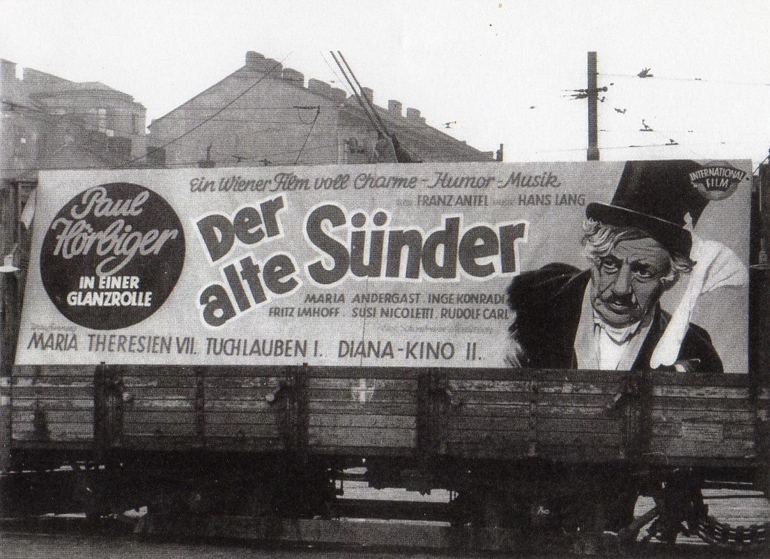 Der alte Sünder - Filmwerbung