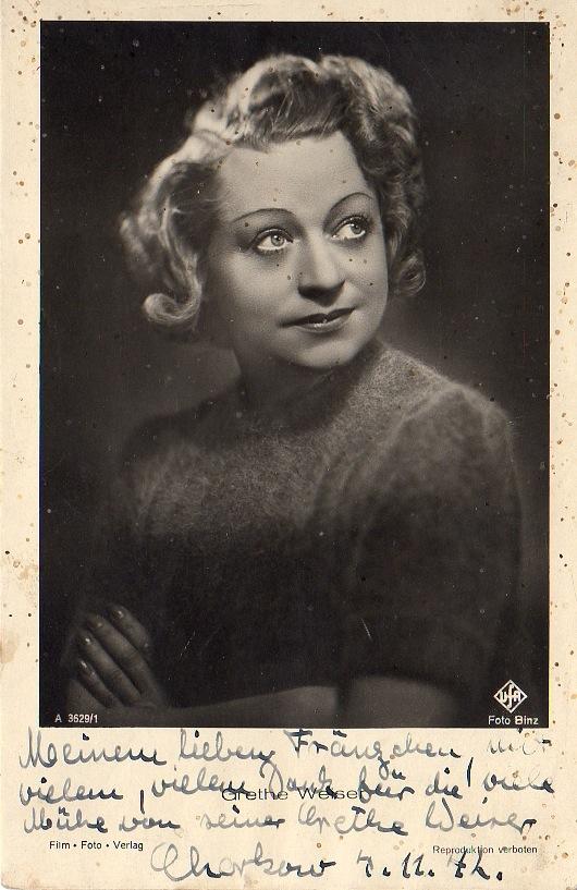 Frontbühne - Grethe Weiser
