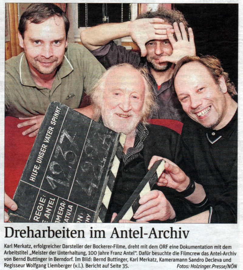 Dreh-buttinger in Archivar Bernd Buttinger